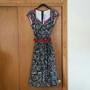 NWT Pinup Couture Heidi Spanish Fan Print Size XS